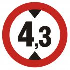 SA007 - Zakaz wjazdu pojazdów o wysokości ponad ... m