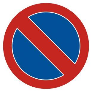 SA008 - Zakaz postoju - znak PCV, naklejka