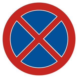 SA011 - Zakaz zatrzymywania się - znak PCV, naklejka