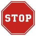 SA012 - Stop - znak PCV, naklejka