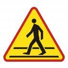 SA016 - Przejście dla pieszych - znak PCV, naklejka