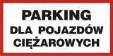SA026 - Parking dla pojazdów ciężarowych - znak PCV, naklejka - Odległość miejsc postojowych od okien budynków