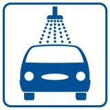 SB010 - Myjnia - znak stacje benzynowe - Stacja benzynowa – jak powinna być oznaczona?