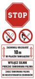 SB017 - Zachowaj odległość 10 m od pojazdu tankującego. Wyłącz silnik podczas tankowania paliwa - znak stacje benzynowe - Stacja benzynowa – jak powinna być oznaczona?