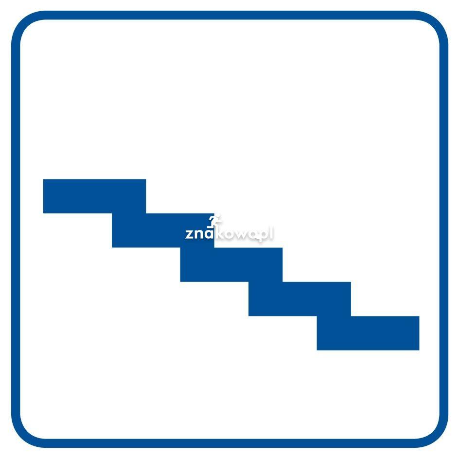Schody do góry - Obiekty handlowe – znaki bezpieczeństwa i tablice informacyjne
