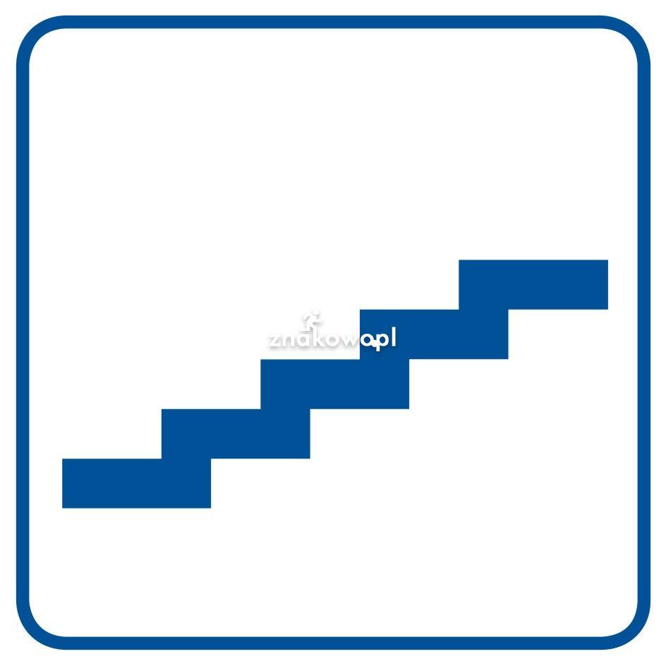 Schody na dół - Obiekty handlowe – znaki bezpieczeństwa i tablice informacyjne