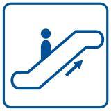 Schody ruchome w górę - znak informacyjny - RA051 - Obiekty handlowe – znaki bezpieczeństwa i tablice informacyjne