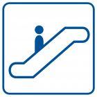 Schody ruchome - znak informacyjny - RA077