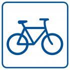Ścieżka dla rowerzystów (przechowalnia rowerów) - znak informacyjny - RA057