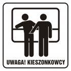 SD008 - Uwaga! Kieszonkowcy - znak, naklejka kolejowa