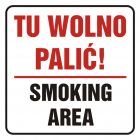 SD019 - Tu wolno palić! Smoking area