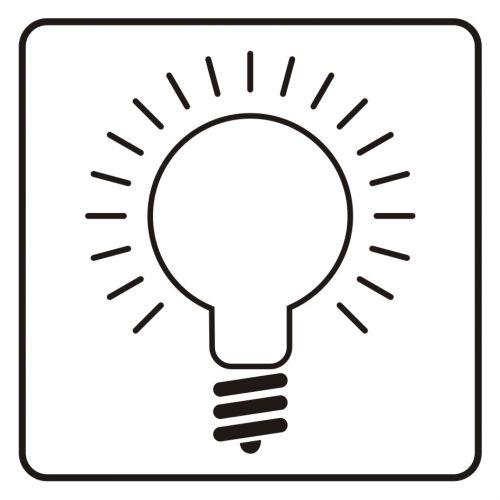 SD025 - Wyłącznik światła - znak, naklejka kolejowa - Oświetlenie w miejscu pracy
