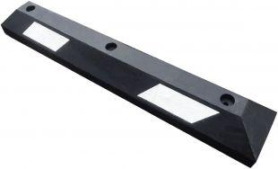 Separator, ogranicznik odbojnik parkingowy 90x15x10,5 cm - PCV, biała taśma odblaskowa