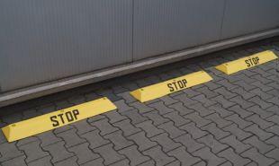 Separator, ogranicznik odbojnik parkingowy Stop 90x20x6,5 cm - PCV, czarny