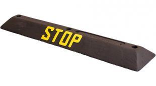 Separator, ogranicznik parkingowy Stop 90x20x6,5 cm - PCV, czarny