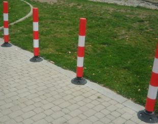 Słupek PCV, stopa, 75cm, uchylny, parkingowy FLEXPINi