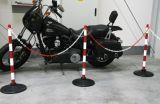 Słupek przenośny, odgradzający, ostrzegawczy, łańcuchowy, plastikowy, na stopie - Ogrodzenia U-12