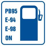 Stacja benzynowa (z wyszczególnieniem rodzajów paliw) - znak informacyjny - RA062 - Stacja benzynowa – jak powinna być oznaczona?
