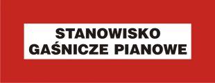 Stanowisko gaśnicze pianowe