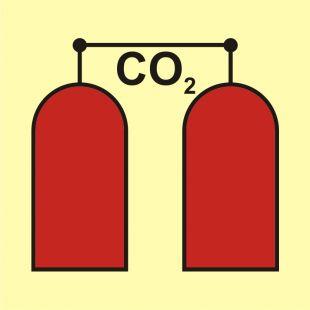Stanowisko uruchamiania gaśniczej instalacji CO2 - znak morski - FA008