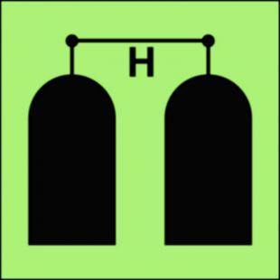 Stanowisko uruchamiania gaśniczej instalacji halonowej - znak morski - FA045