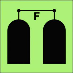 Stanowisko uruchamiania gaśniczej instalacji pianowej - znak morski - FA017