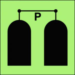 Stanowisko uruchamiania gaśniczej instalacji proszkowej - znak morski - FA050
