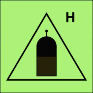 Stanowisko zdalnego uwalniania (H-gaz) - znak morski - FI060