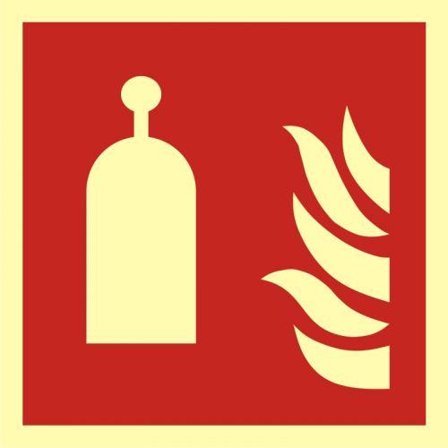 Stanowisko zdalnego uwalniania - znak przeciwpożarowy ppoż - BAF014 - Norma PN-EN ISO 7010:2012