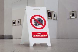 Stojak ze znakami (dowolna grafika) - duży 50 x 80 cm
