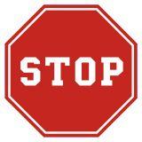 Stop - Znaki drogowe poziome