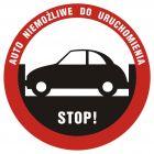 Stop! Auto niemożliwe do uruchomienia - znak, naklejka samochodowa - SC006