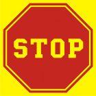 Stop (tablica do oznaczenia autobusu szkolnego) - znak PCV, naklejka - SA032