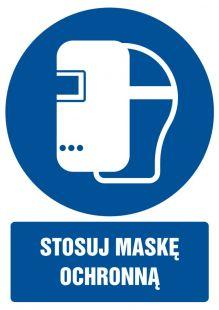 Stosuj maskę ochronną - znak bhp nakazujący, informujący - GL027