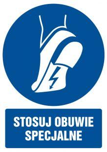 Stosuj obuwie specjalne - znak bhp nakazujący, informujący - GL017