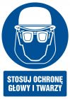Stosuj ochronę głowy i twarzy - znak bhp nakazujący, informujący - GL019
