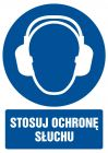 Stosuj ochronę słuchu - znak bhp nakazujący - GL005