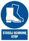 Stosuj ochronę stóp - znak bhp nakazujący - GL007