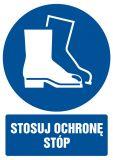 Stosuj ochronę stóp - znak bhp nakazujący - GL007 - Instruktaż stanowiskowy BHP – ramowy plan szkolenia