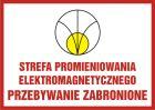 Strefa promieniowania elektromagnetycznego. Przebywanie zabronione - znak bezpieczeństwa, ostrzegający, promieniowanie elektromagnetyczne - KC006