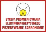 Strefa promieniowania elektromagnetycznego. Przebywanie zabronione - znak bezpieczeństwa, ostrzegający, promieniowanie elektromagnetyczne - KC006 - Pracodawca wykonujący zadania służby BHP – jakie powinien przejść szkolenie?