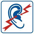 Strefa wzmożonego hałasu - znak informacyjny - RA109