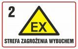 Strefa zagrożenia wybuchem 2 - znak ostrzegający, informujący - NC004 - Stacja benzynowa – jak powinna być oznaczona?