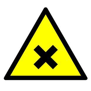 Substancja szkodliwa lub drażniąca - znak bhp ostrzegający, informujący - GE022