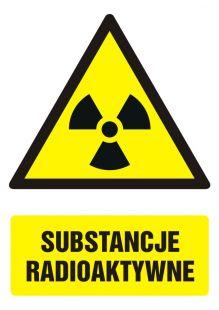 Substancje radioaktywne - znak bhp ostrzegający, informujący - GF012