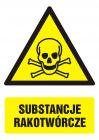 Substancje rakotwórcze - znak bhp ostrzegający, informujący - GF007