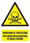 Substancje toksyczne.PCB Niebezpieczeństwo w  razie pożaru
