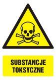 Substancje toksyczne - znak bhp ostrzegający, informujący - GF005 - Materiały niebezpieczne – ogólne informacje BHP