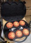 Światło ostrzegawcze drogowe, sygnalizacyjne, błyskowe MINI BŁYSK 6 x pomarańczowe + walizka