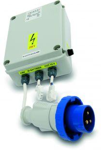 Sygnalizacja świetlna drogowa, tymczasowa, LED, bezprzewodowa, wahadłowa - przejściówka na 230V